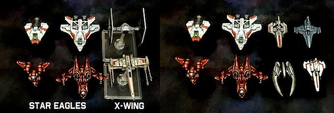 1/285 scale vs Fantasy Flight X-Wing miniatures