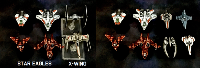 1/285 scale vs Fantasy Flight X-Wing miniatures