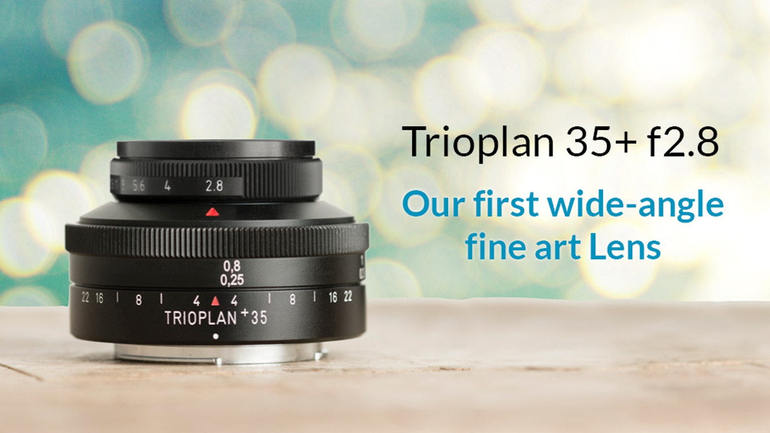 Fire up your creativity with the endless possibilities of the world's first Soap Bubble wide-angle fine art lens: Trioplan 35 f2.8