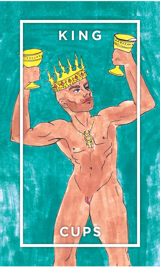 King of Cups inspired by the porn god and trans rights activist Buck Angel