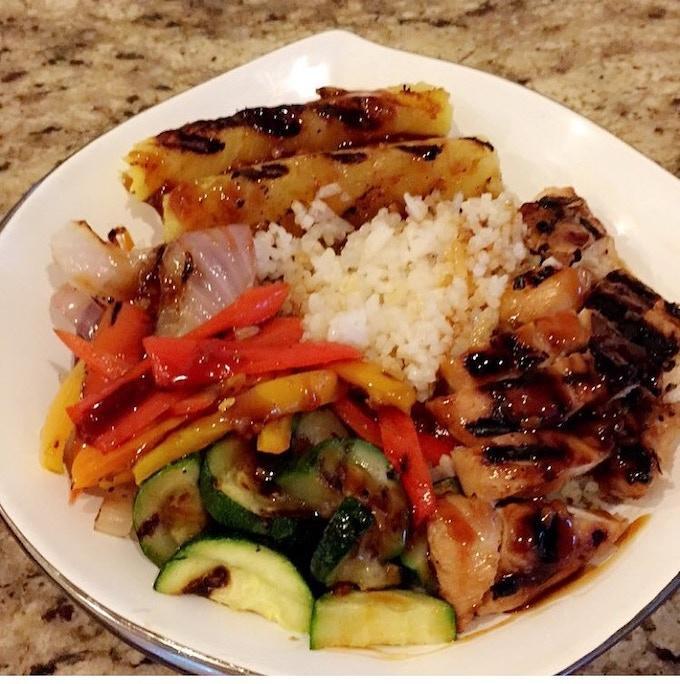 Hawaiian Chicken Teriyaki Bowl