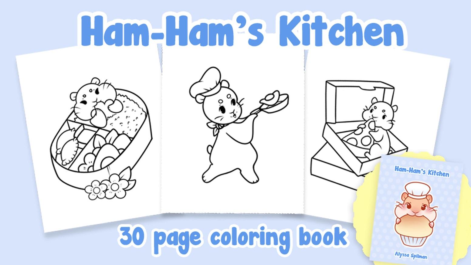 Ham Hams Kitchen A Coloring Book
