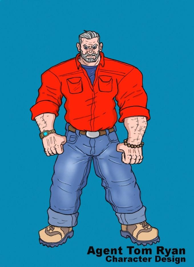 Agent Tom Ryan-director of C.R.I.S.A.  WW2 Superhero/spy
