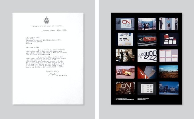 Letter from the Prime Minister of Canada to the flag design team 1965, Original CN Railways Identity Presentation Slides 1958
