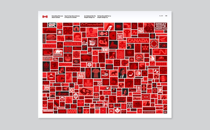 "24"" x 30"" Canada Collected poster, signed by designer Aaron Draplin"