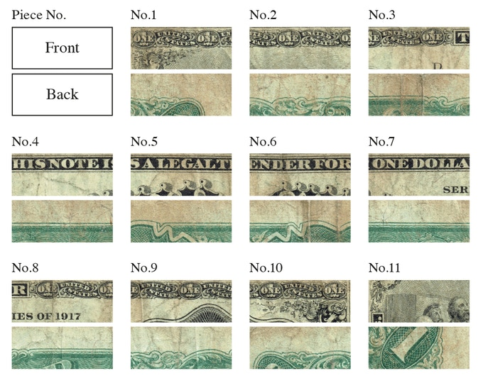 It wasn't until we created these visuals that we realised how beautifully ornate the design of the 1917 $1 bill was.