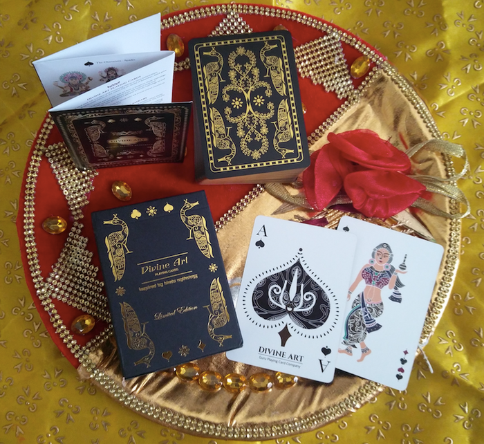 100% custom illustrated deck of playing cards inspired by Hindu Mythology. Premium quality with a features combo never seen before.