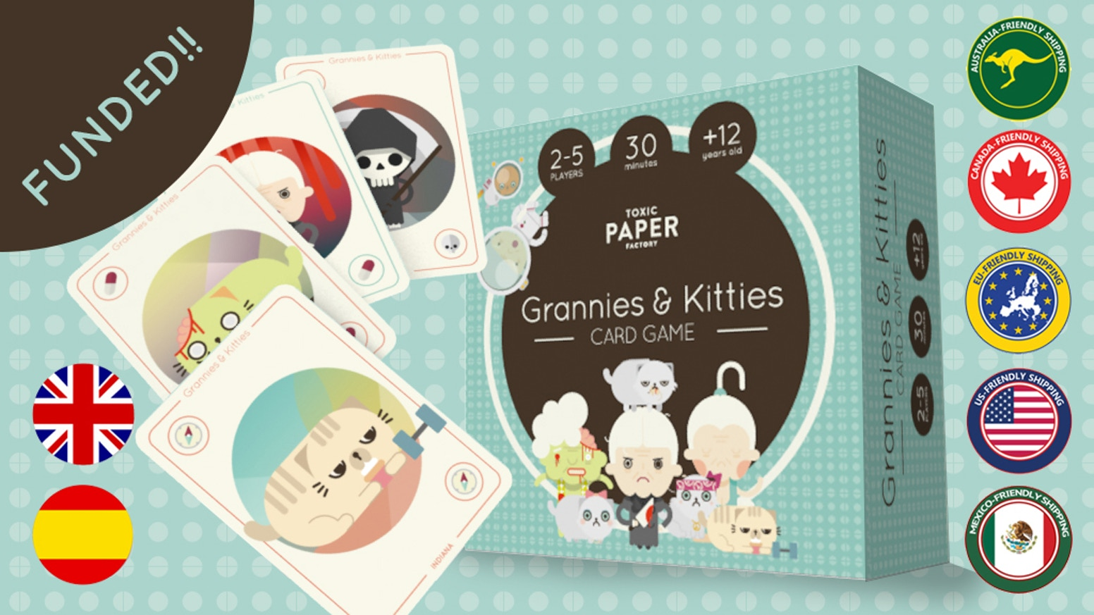 A card game where to take the role of an adorable kitty-lover granny and get as many kitties as you can.