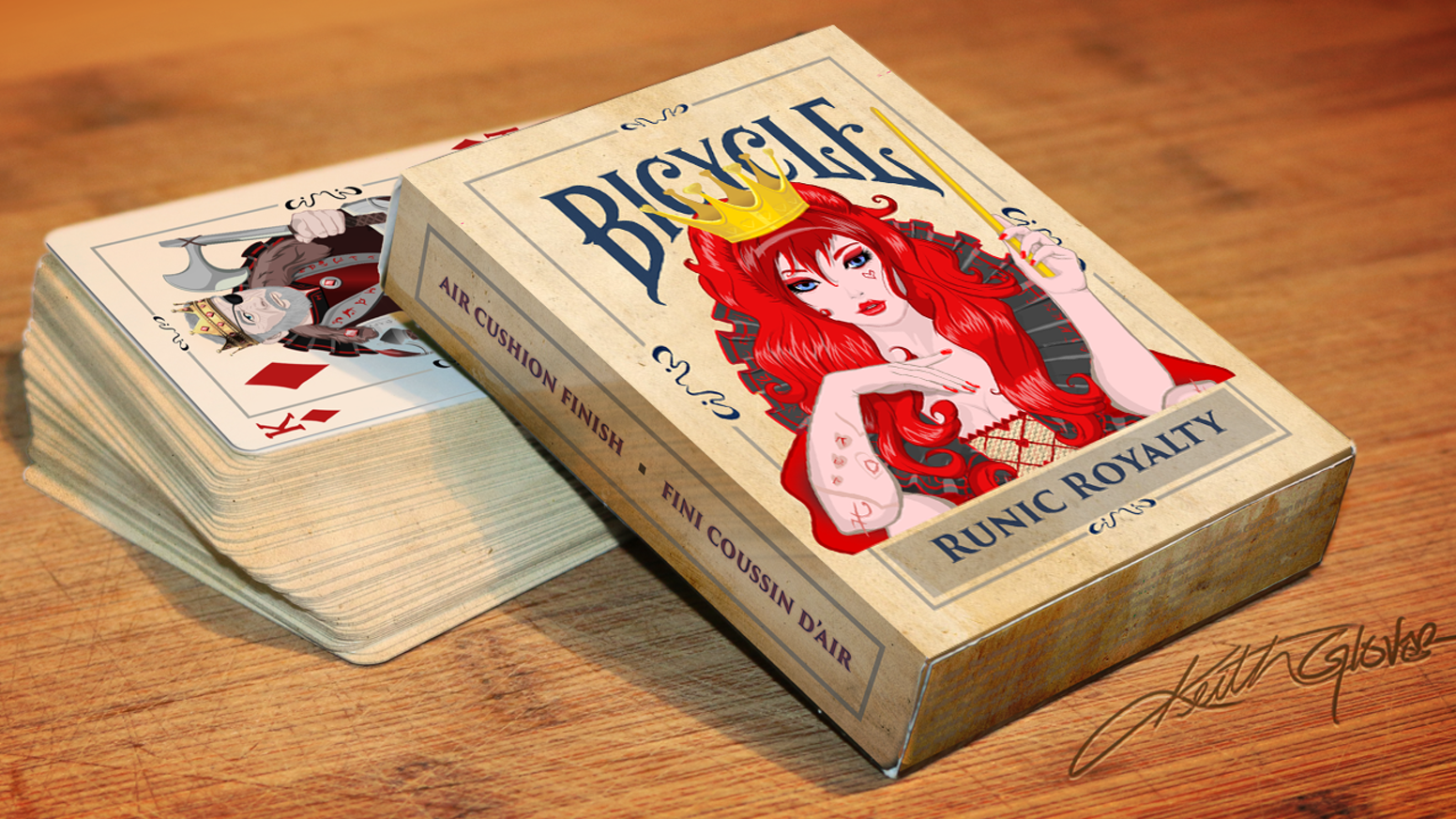 Custom designed Playing Cards created for magic lovers printed by the USPCC under the Bicycle Label. LIMITED RUN of 1,000 decks. Missed out? These Cards are now for sale for a limited time at http://keithglover.com/store