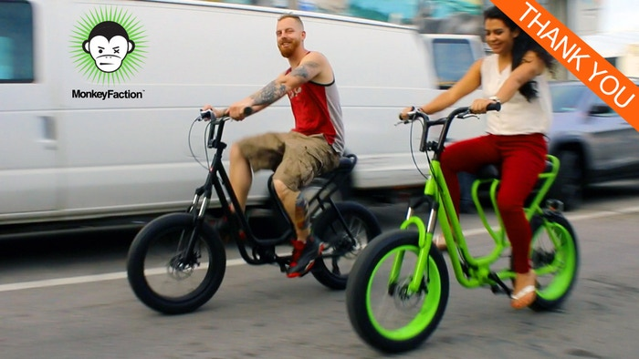 The Monkey Faction Capuchin combines elements of a scooter and a mountain bike. The result is evolutionary fun!