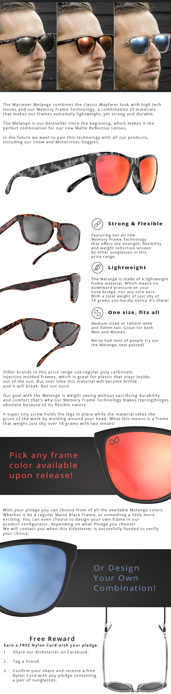 13fba41444 First Affordable Matte Reflective Sunglasses. by Mariener Eyewear ...