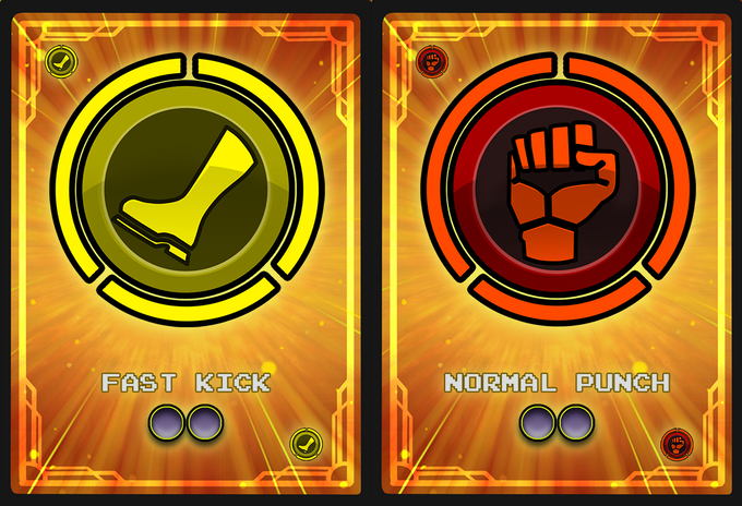 Button card examples, Kick and Punch