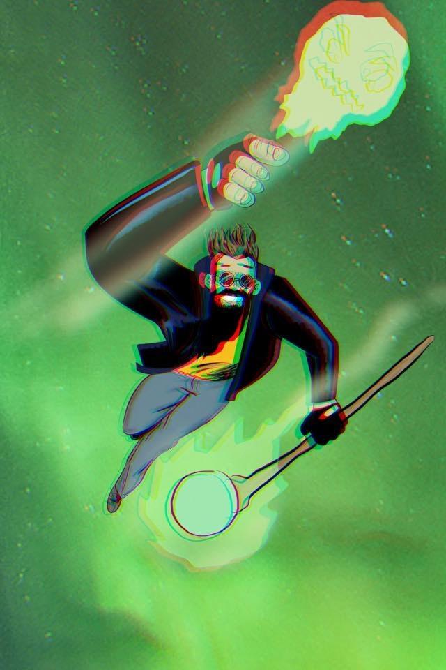 Sample 3D Pin Up Auroraman by Jason Sylvestre