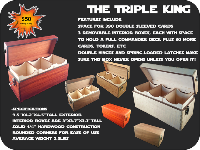 The Triple King is a great fit for your backpack and the latching clasps ensure you never have an accidental spill!