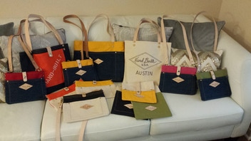 Hand Built bags made by Bryan Elkins in Austin Texas