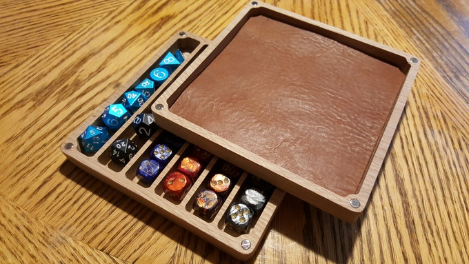 Finest super thick vegetable tanned leather to pamper your best dice