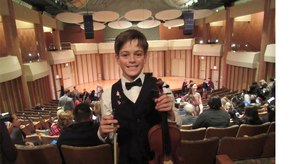 Award-Winning 11-Year-Old Violinist to Record Concerto project video thumbnail