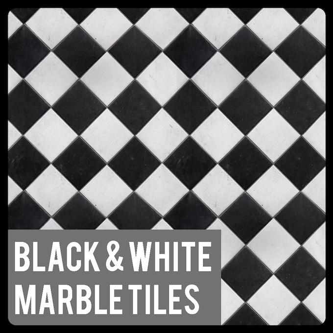 Black And White Marble Tiles Warhammer 40k Gaming Mat – Jerusalem House