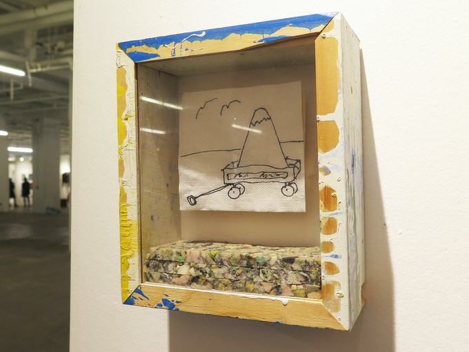 Here's another view of the Barn Napkin Shadow Box on view at our booth at NADA New York.