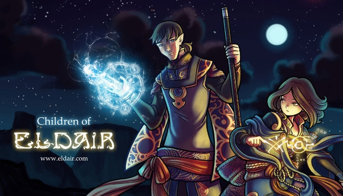 Children of Eldair is an ongoing webcomic that has been updating since 2012 and can be read online at www.eldair.com.