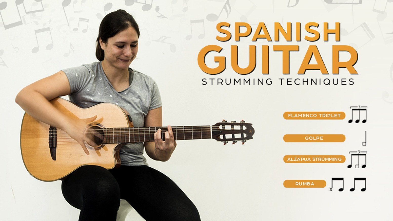 19 guitar lessons to teach you Spanish Guitar Strumming Techniques, in the form of a book and video lessons.