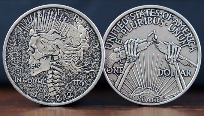 The 'R.I.P. Dollar - actual coin finish may vary.