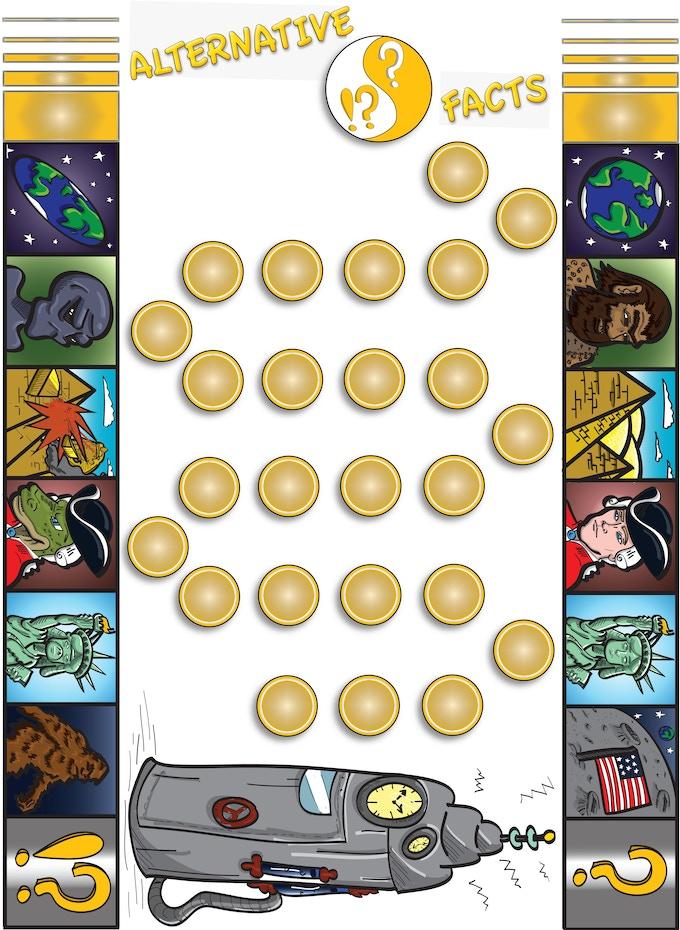 Alternative Facts Game Board