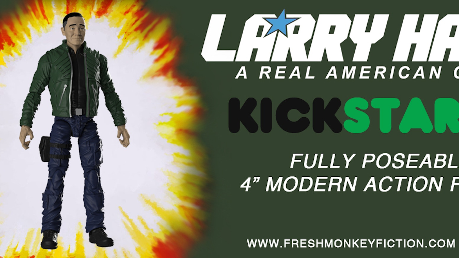 Larry Hama gets an action figure of his own, courtesy of Fresh Monkey Fiction, REMCO--and YOU!