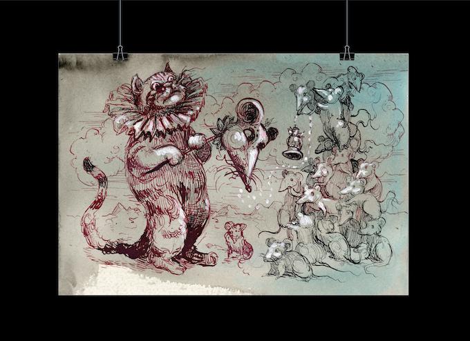 £50 An A2 size, 200gsm silk Molly Crabapple poster (plus stickers + Kickstarter updates +website special thanks)