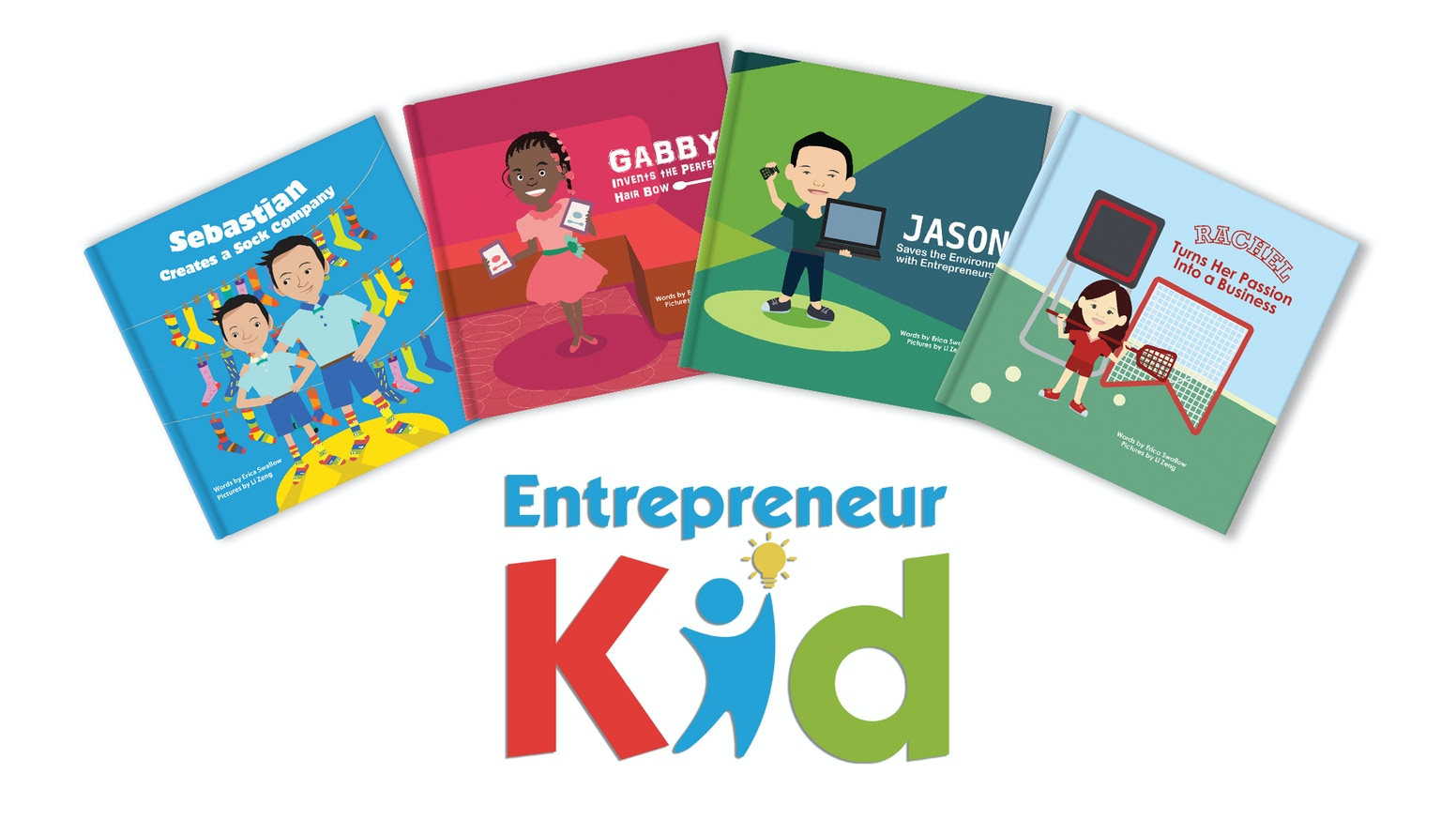 Entrepreneur Kid is a children's picture book series that showcases the true stories of real kid entrepreneurs and their businesses.