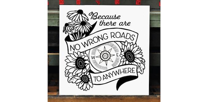 Work in Progress: No Wrong Roads Linework [final design pending]