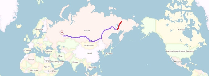 The Route we will take from Perm to Pleistocene Park