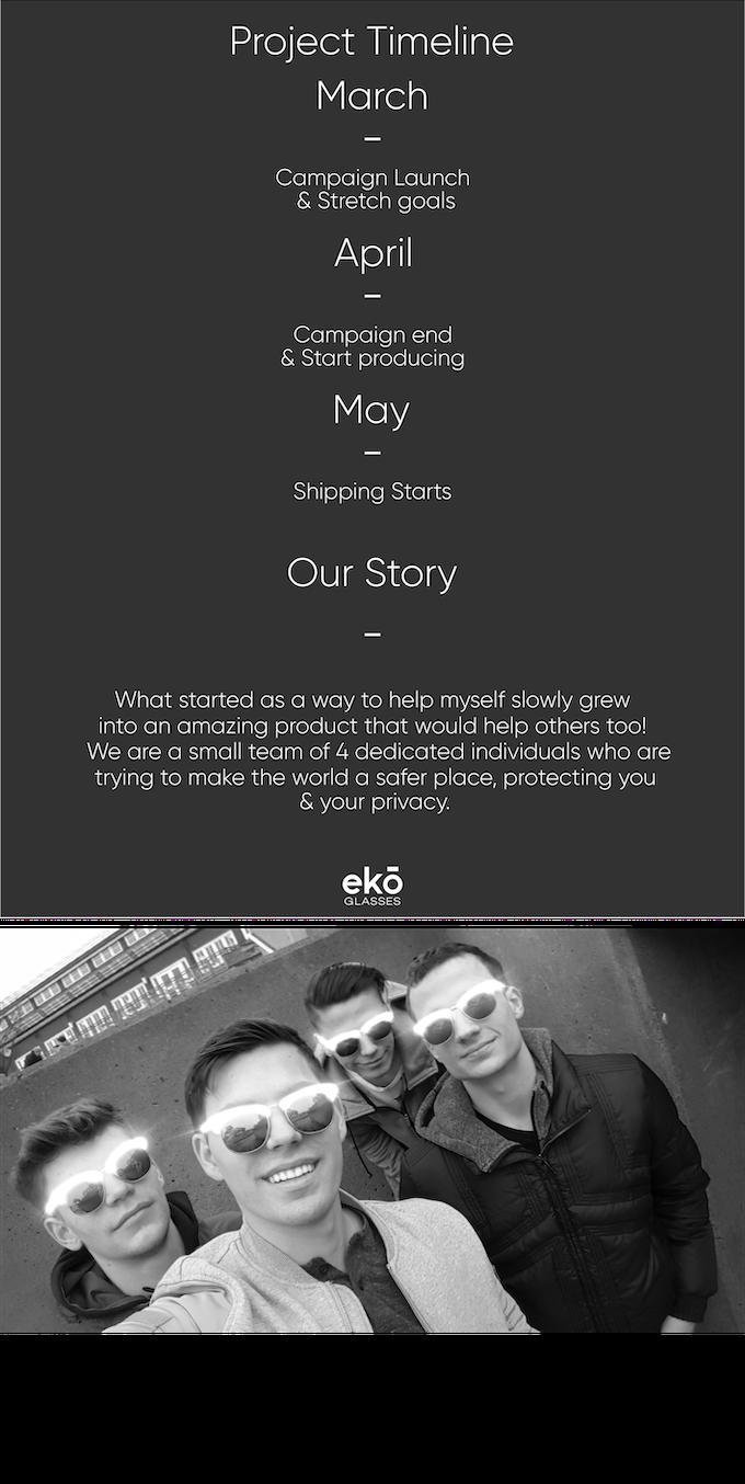 ekō Glasses: timeline and meet our team!
