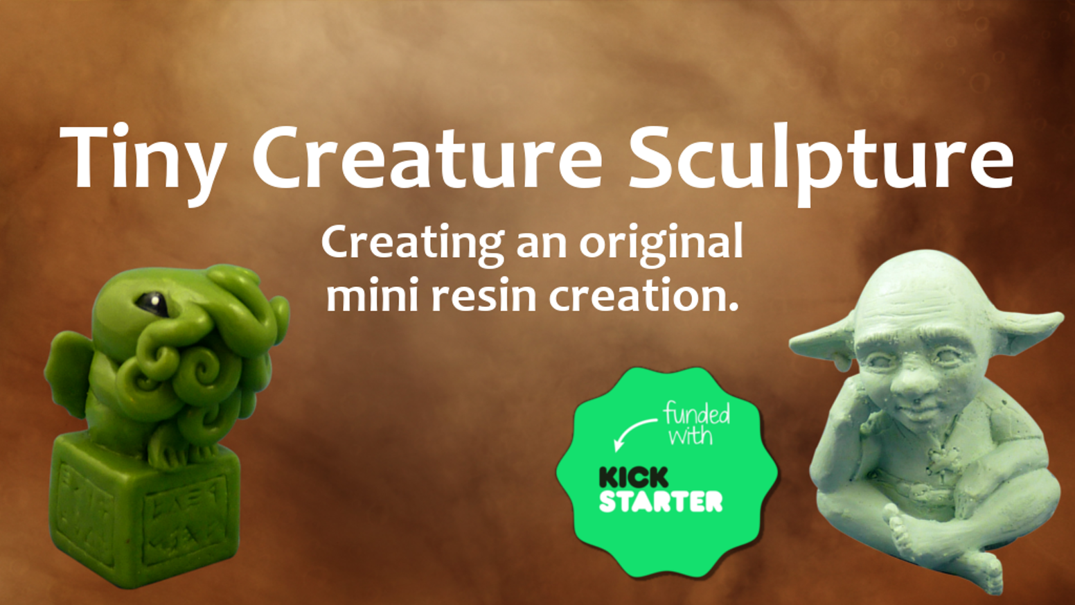 Creating a small creature sculpture cast in resin.