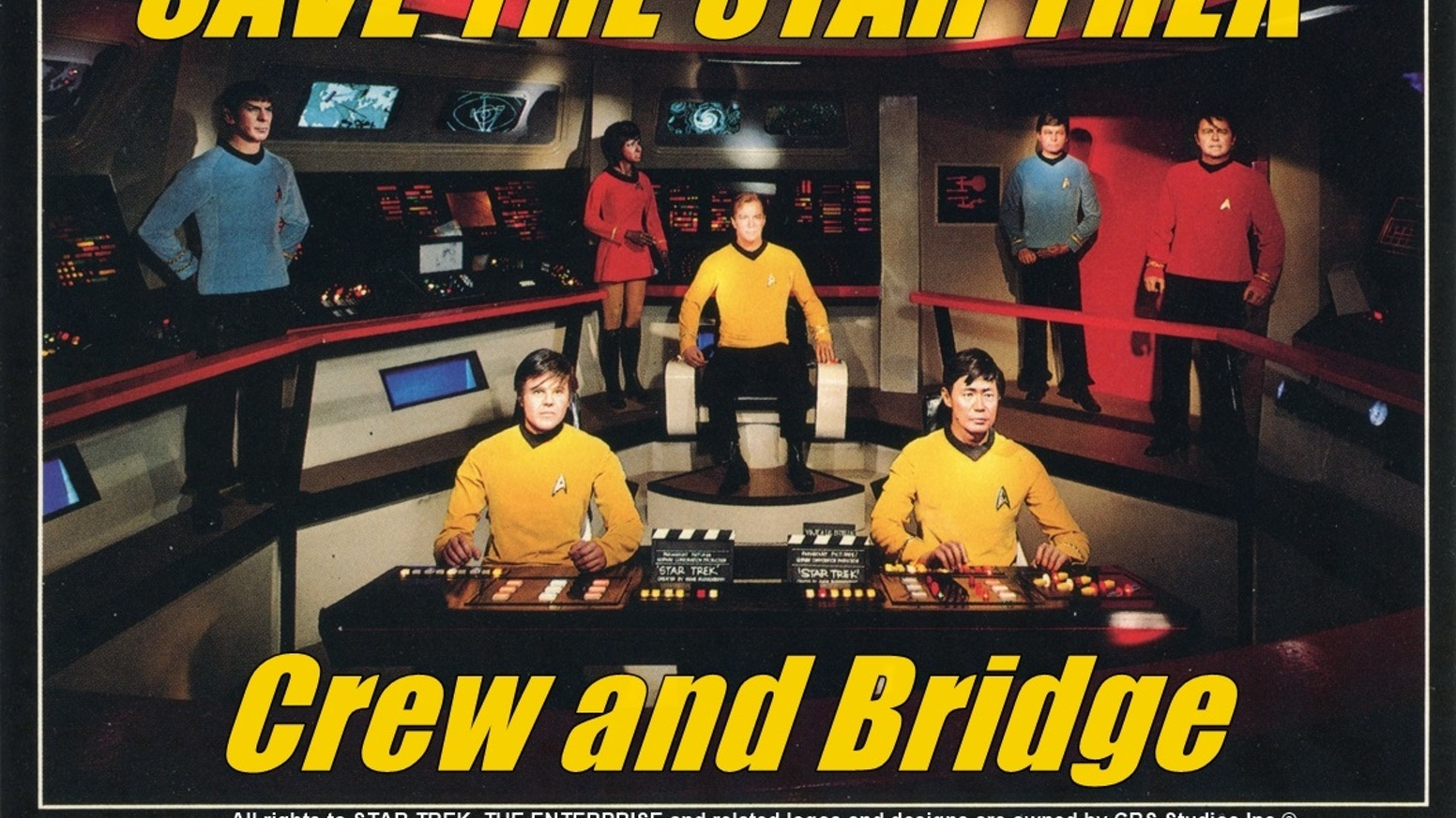Restoring all seven 1970's Movieland Star Trek Enterprise wax figures and set, for the Hollywood Science Fiction Museum world tour.