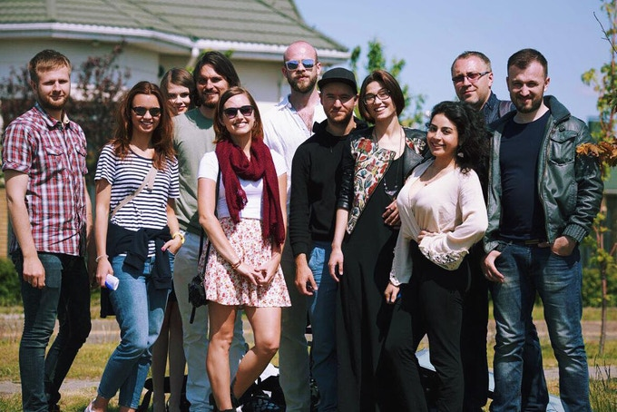The film crew and cast from the Street Seduction scene