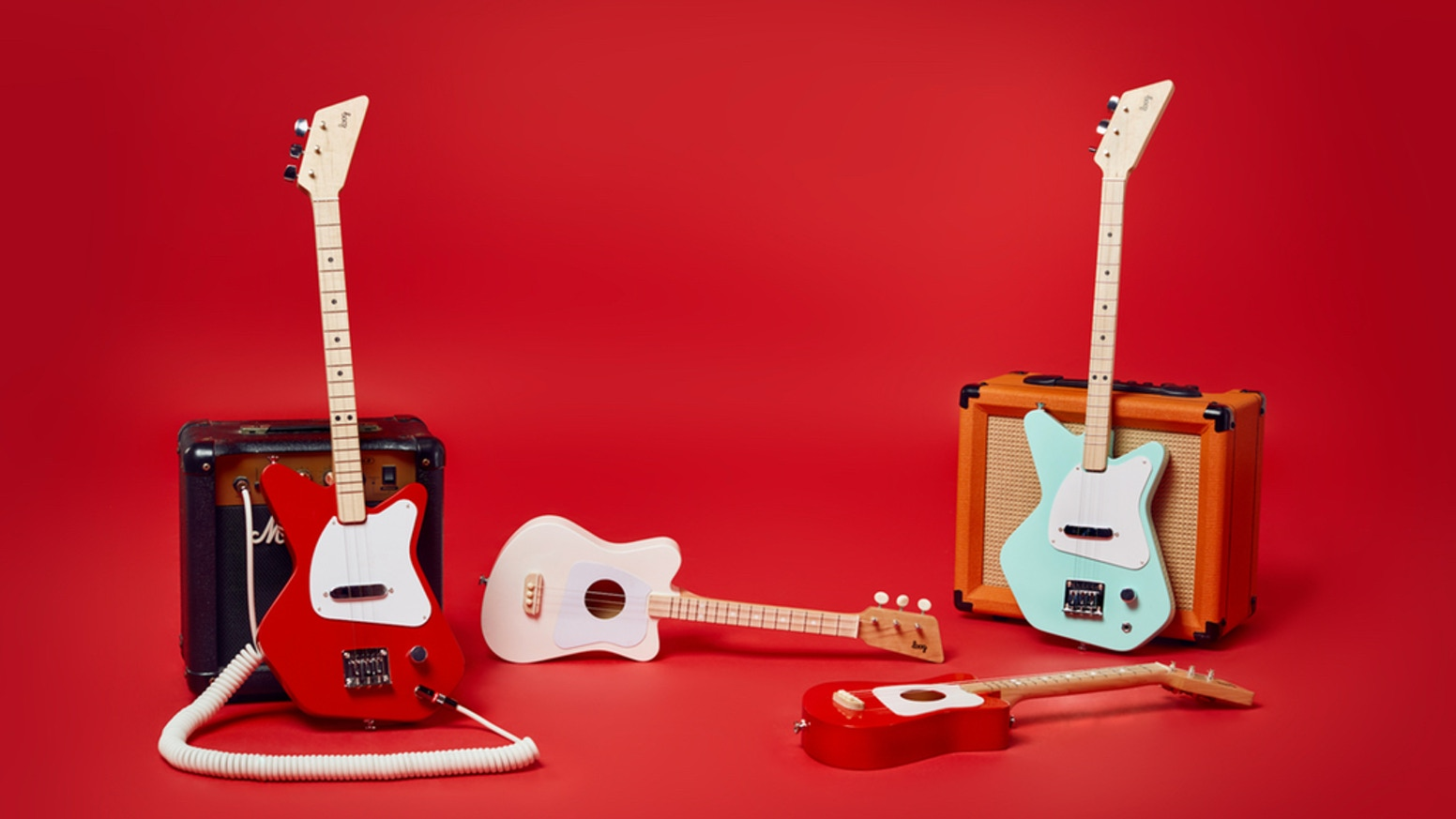 Guitars designed to make it fun and easy to play music. Now with an app that gets you playing songs on day one.  Learn more at loogguitars.com