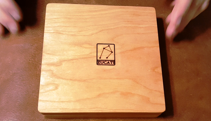 Branded on the back so you 'll always know which side is up. Plus it leaves the lid free for laser etching or engraving
