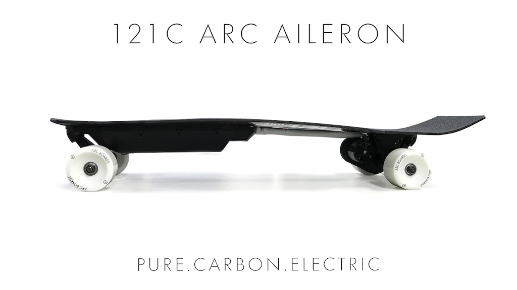 121C Arc Aileron: Pure Carbon Electric Skateboard project video thumbnail