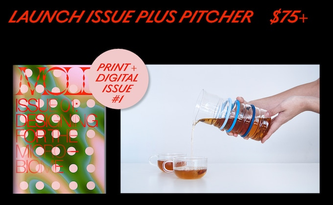 MOLD Magazine Issue #01 and MOLD's Life Measured Pitcher, the most versatile tool for all your daily needs.