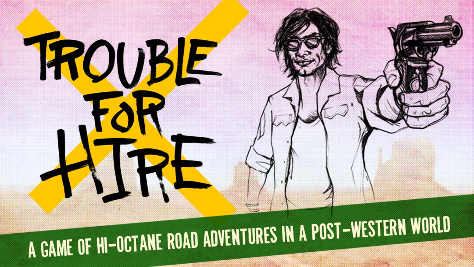You and your friends play to tell serial full-throttle adventure stories of a road warrior cruising a stylized post-Western world.