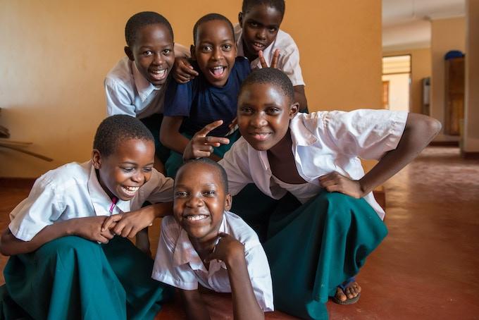 Students at SEGA Girls School in Tanzania