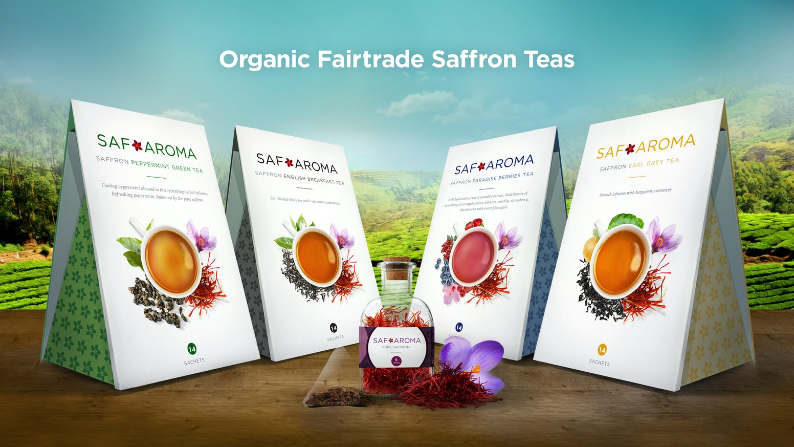 You get fresh & finest quality saffron for cooking & organic saffron teas by elevating women farmers using fairtrade. One cup at a time