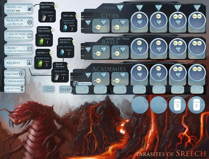 Player board for Sreech.