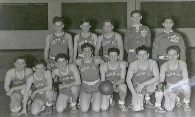 Temple Beth El 1953 Basketball team, photo courtesy of the Rabbi Leo M. Franklin Archive at Temple Beth El