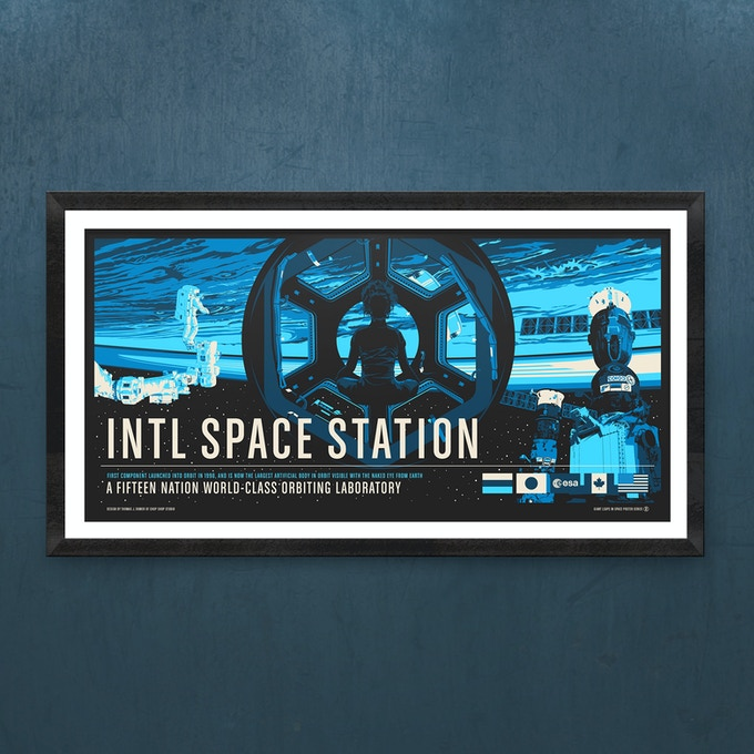 "International Space Station: 36"" x 18"" Screen Print"