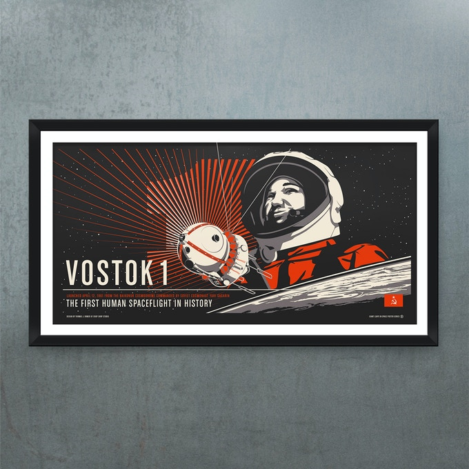 "Vostok 1: 36"" x 18"" Screen Print"