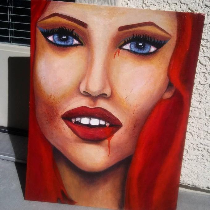 14x18 Acrylic on Canvas Board