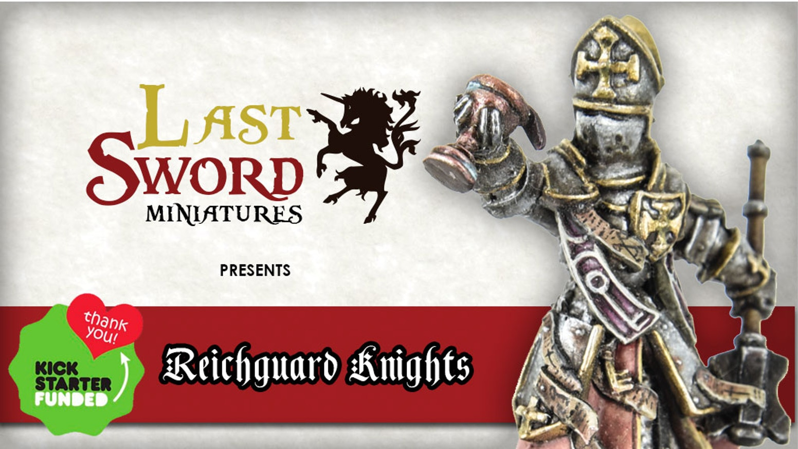Now avariable at: www.LastSword.comReichguard foot knights are 32mm miniatures, sculpted and crafted in Spain for fantasy wargames.