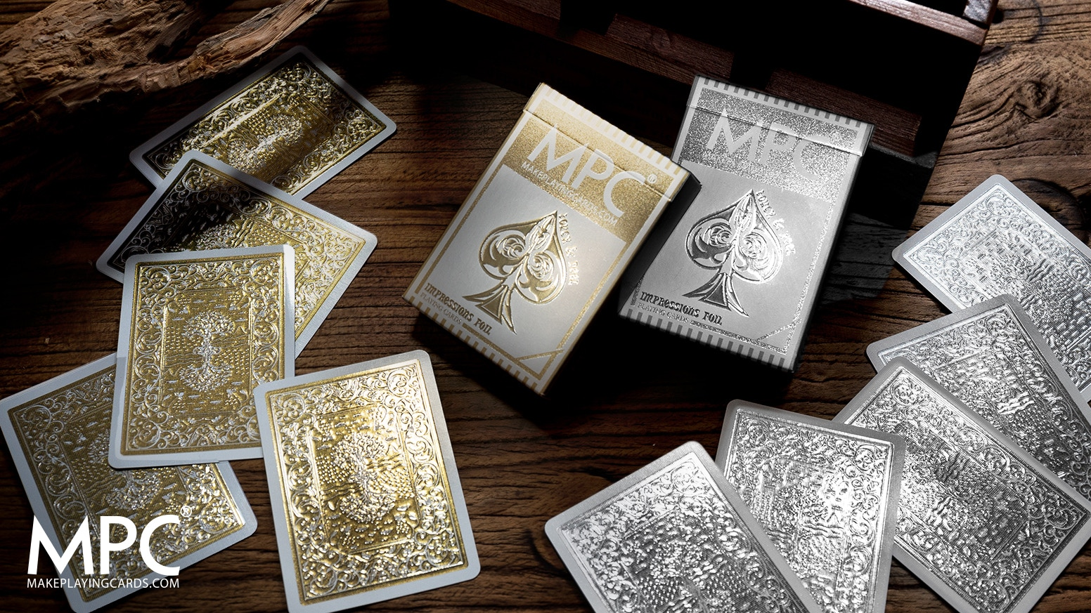 High gloss embossed metallic back playing cards using ground breaking print technology. Great for Poker, Cardistry & Magic.